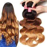 Wholesale Felt Machines - Soft Feel Hair Ombre Brazilian Body Wave Bundles Brazilian Virgin Hair Ombre Extensions Human Hair