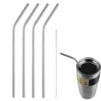 Wholesale Sip Cups - HOT 30OZ 20OZ Straws for Yeti Cups Stainless Steel Drinking Straws bent straight straws Sip Well Tumbler Straw Brush