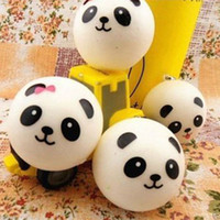 Wholesale Panda Jumbo Bun - 2016 new 10pcs lot hot sell,Jumbo Squishy Buns Bread Charms, Panda Shape Squishies Cell Phone Straps, Wholesale Price