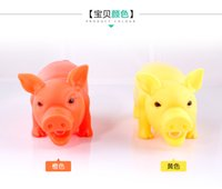 Wholesale Screams Pigs - 3Pcs Chew Squeaker Squeaky Rubber pig toys Sound screaming Pig For Dog Funny Screaming Vent Pig Dog Chew Plaything Decrease Stress Prank Toy