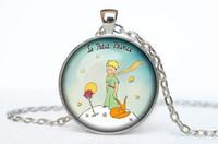 Wholesale Cartoon Little Fox - Wholesale-(1 Piece Lot) 2016 Vintage Cartoon Photo Little Prince and Fox Pendant Necklace