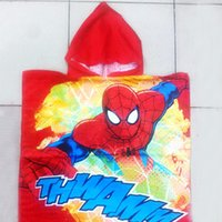 Wholesale Baby Hooded Bath Towels New - New Cartoon Animal Baby Hooded Bathrobe Infant Bath Towel Bathing Robe For Children Kids Baby Bathrobe Pajamas Spider-man Towel