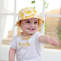 NY Summer tolder Cubo gorro sombreros de algodón ajustable 46 ~ 53cm lindo oído 6-36M Baby Boy Girl Kid Toddler Infant Hat al por mayor en stock