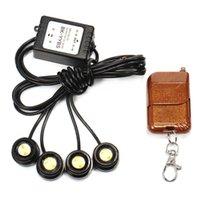 Wholesale Strobe Drl - 12VA 4in1 LED Car Emergency Strobe Lights DRL Wireless Remote Control Kit Car Accessories