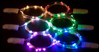Wholesale Warm White Submersible Led Light - super 20 Micro LED Submersible String Light 2M 20LEDs CR2032 Battery Operated Micro Mini LED String Light Copper Silver Wire Starry String