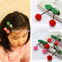 Felt clip Cherry capelli rosa Red Watermelon Red forcine Handmade Classic Fruit principessa Hair Barrettes superiore prese dei capelli