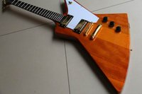 Wholesale Wooden Model Guitar - wholesale Cibson LP Custom Explorer Model Electric Guitar In Natural Top Quality In wooden Free Shipping 111008
