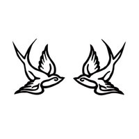 Wholesale Tattoo Sticker Love - New Style For Sparrow Swallow Bird Set Tattoo Decal Vinyl Car Styling Jdm Sticker Love Car Truck Window Accessories Decor