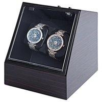 Wholesale Watch Winder Storage Box - Automatic Watch Winder Watch Display Storage Organizer Watches Case Auto Silent Watch Winder Transparent Cover Wristwatch Boxes