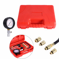 Wholesale Pressure Gauge Tester - 9pcs set Automotive Motorcycles Petrol Engine Compression Test Pressure Gauge Manometer Tester Kit Tool Set