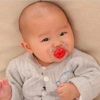 pacificadores engraçados dos bordos venda por atacado-Interessante criativo chupeta de silicone engraçado mamilo teta lábios vermelhos porco focinho chupeta infantil seguro de qualidade bebê engraçado chupeta