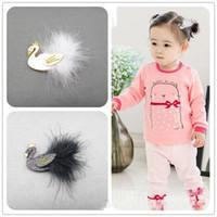 Wholesale Korean Hair Accessories Bow Fashion - Novelty Wholesale Fashion Korean Childrens princess Hair Bows Girls Sequin cygnet Hair Clips Hair Accessories Kids Toddler barrettes A114