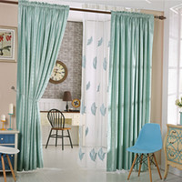Wholesale Table Valance - Jacd Valance Curtains Sheer Curtain Fabric Embroidery Gauze Window Drapes Perfect For Hotel Table Home Pillow Decoration Multi Colors