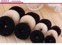 bolinho scrunchie venda por atacado-20 pcs Cabelo Volumizing Scrunchie Donut Anel Estilo Bun Scrunchy Sock Poof Bump It Snooki