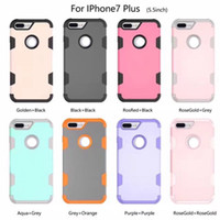 Deluxe Hybrid Armor Hard Soft TPU PC Case para Samsung Galaxy S8 Iphone 7 Plus I7 6 6S IPhone7 Moda Dual Layer Tone Phone Cover Skin 50pcs