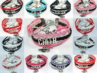 Drop Shipping Infinity Love Cheer Bracelets- Mug Megphone Beer Charm Спортивные команды Cheering Fans Jewelry Gift-12 Colors