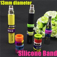 Wholesale Decorative Ego Batteries - Wholesale- 100pcs Ecig silicone bands vape ring for EGO series batteries decorative & protection resistance vape bands for vision spinner