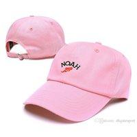 Wholesale Fitted Trucker Hats - 2017new fashion Navy Pink Beige NOAH NYCc Cross Baseball Cap Hip Hop Men Women Snapback Fitted Trucker Hat Fishing Cap