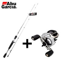Wholesale Abu Garcia Fishing Rods - Wholesale- 2016 Original ABU GARCIA VENGEANCE II 1.98M M ML Baitcasting Fishing Rod+SIER MAX3 SMAX3 6.4:1 BaitCasting Fishing Reel Set