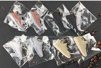 Wholesale Electronic Boost - Mix 12pcs lot Cute Silicone 350 Boost Key Chain Sneaker Keychain Kids Key Rings Key Holder for Woman and Girl Christmas Gifts