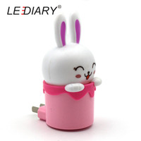 Atacado- LEDIARY Lovely Happy Rabbit LED Night Light / Lâmpada 110-220V EU / EU Plug com sensor Controllor Christmas Baby Night Night Night