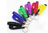 Wholesale Seatbelt Cutter Hammer - Mini 3 in 1 Seatbelt Cutter Emergency Hammer Glass Breaker Key Chain Smart AUTO rescue tool Safety Escape Lift Save SOS Whistle