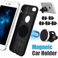iphone luftentlüftung großhandel-Universal Car Mount Air Vent Magnetischer Auto-Halter für iPhone X 8 Handy-Halter 360 Grad-Drehung Mini Car für Samsung