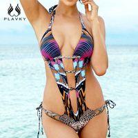 Wholesale trikini swimwear online - sexy joint trikini cut out plus size swimwear beachwear one piece bathing suit bodysuit thong monokini women one piece swimsuit