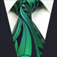 Wholesale Wedding Ties For Men Green - B23 Green Abstract Silk Mens Necktie Tie Wedding Fashion Ties for male Classic extra long size
