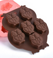 hiboux à vendre achat en gros de-Gros outils de cuisson Durable Silicone Gâteau Moule Coloré Petit Hibou Moule De Glace Chocolat Pudding Jelly Moule Vente Chaude 2kn R