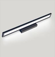 ayna aydınlatma toptan satış-Modern Minimalist Banyo Aynası Işık Alüminyum Anti-sis Duvar Lambası 90 CM Uzun 15 w