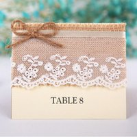 wedding other holiday supplies white rustic style lace burlap place card wedding table number card with
