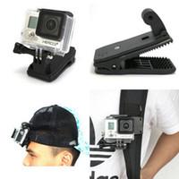 Wholesale gopro mounts - Sport Camera For mi Yi GoPro Sjcam Backpack Clip Clamp Mount For Go Pro 3 SJ4000 SJ5000 SJ6000 SJ7000 Action Camera Accessories
