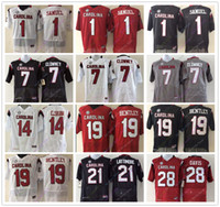 Wholesale gold carolina - College South Carolina Gamecock Jersey Deebo Samuel Jadeveon Clowney Connor Shaw Jake Bentley Marcus Lattimore Mike Davis Jersey