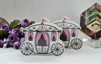 Wholesale Box Carriage - Wholesale- 50pcs Cute Enchanted Carriage Favor Boxes wedding candy box sweet sugar box wedding party FAVOR gifts