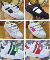 Wholesale Girl Top For Summer Kids - 2017 top Quality Superstar Head Sneakers Children casual shoes for kids boys sneakers and girls casual shoes EUR 25-EUR 35 free shipping