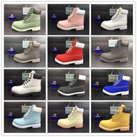 Wholesale Mens Blue Suede Boots - Waterproof Original Quality Martin Ankle Boots Brand New Mens Work Hiking Shoes Leather Outdoor Winter Snow Boots multi colors Size 36-47
