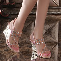 Wholesale Comfortable Career Shoes For Women - 2017 New High Heels Wedges Sandals Most Comfortable Summer Shoes For Work Fashion Shoe Designers ZG9