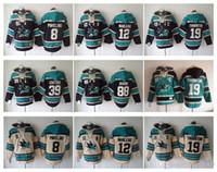 Wholesale couture hoodie - San Jose Sharks Hockey Men Jerseys 8 Pavelski 12 Marleau 39 Logan Couture 88 brent burns 19 Thornton Hockey Hoodie Hooded Sweatshirt Jackets