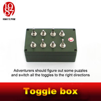 Wholesale Open Box Receivers - Takagism game prop toggle box open the door by switching toggles real life escape room prop