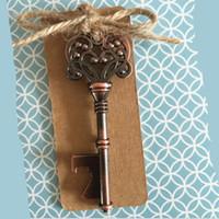 antik antika mutfak toptan satış-Anahtar Şişe Açacağı Hediye Vintage Antik Anahtar Metal Bira Şarap Açacağı Bronz İskelet Düğün Favor Mutfak Yemek Bar Araçları 2017