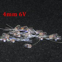 Wholesale Electric Incandescent Lamp - 50pcs Miniature 4mm 6v Lamp Bulb F4 Bombilla Incandescent Edison Filament Antique Lamps Light 6V 4 mm Rice Miniature Lamparas