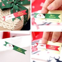 Wholesale-1lot = Etiqueta de papel de 120pcs New Christmas Label, Gift Package Etiqueta de vedação para Cookies / Candy / Nuts Package, X'mas Tree / Snowmann