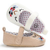 Wholesale Knit Shoes For Babies Girls - Female baby First Walker Shoes Knitted Cloth Baby Cute Girls Princess shoes casual Sport for Infants Girls S066