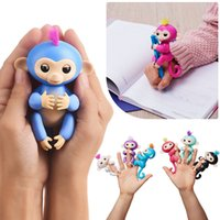 Wholesale Babies Christmas Pcs - 6 colors Pre-sale retail Fingerlings - Interactive Baby Monkey Finger Toys Monkey Electronic Smart Fingers Monkey 130mm YYA503 50 PCS