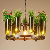 Wholesale office club clothing online - Pendant light creative Personality chandeliers American industrial vintage artistic led chandelier flower clothing store restaurant club bar