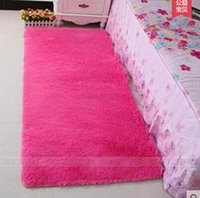 Wholesale Pink Room Mats - Free shipping gloria material bay window rugs bedside bedroom floor mat indoor living room carpet tea table candy colors tapis shaggy