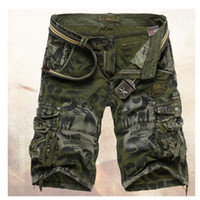 Wholesale Fit Cargo Shorts - Wholesale- Hot sale free shipping casual slim fit men shorts multi-pocket camouflage cargo shorts men 2 colors 29-36 with out belt