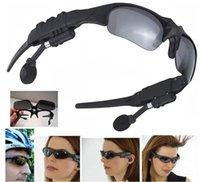 ingrosso cuffia-telefoni V 4.1 Smart Wireless Bluetooth Headset SunGlasses Google Glass cuffie Handfree per iOS Anroid con l'imballaggio al dettaglio