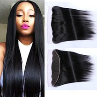 """Wholesale Hair Color Edges - STOCK 8""""-20"""" free parting human hair lace frontal closure 13x2 13x4 straight frontal closure with folded edge"""